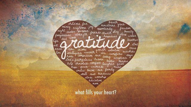 gratitude fills your heart