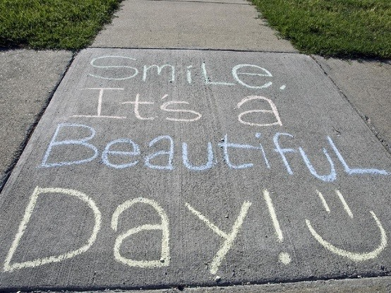 Smile, It's a beautiful day
