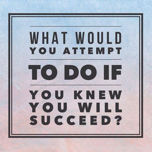 what would you attempt to do if you knew you will succeed?