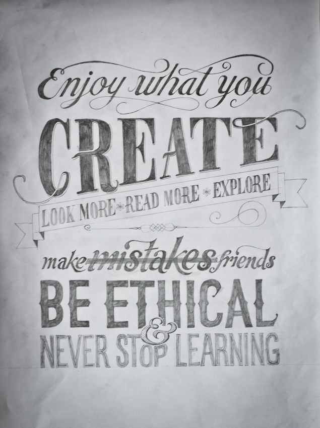 enjoy what you create