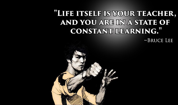 Bruce Lee Quote Teacher Is Your Life