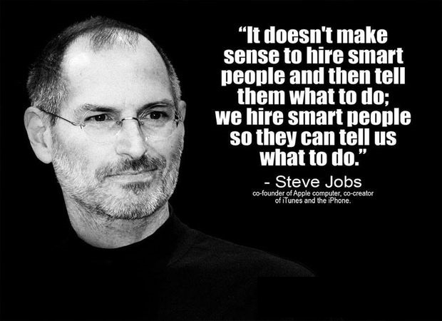 Hire Smart People Quote Steve Jobs